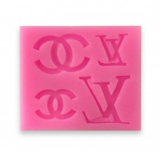 "Силиконовый молд ""Chanel, Louis Vuitton \ Шанель, Луи Виттон"" (4 шт.)"