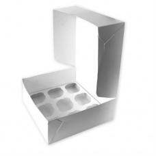 Коробка для 9 кексів / 260х260х90 / гофра / без вікна