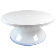 Подставка крутящейся для работы с тортом d-28 см (пластик, силикон)
