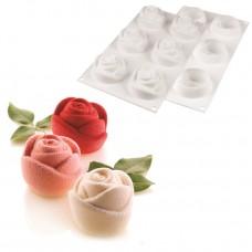 """Форма cиліконова для євродесертів """"Rosa/Троянди"""" / планшет / 6 шт."""