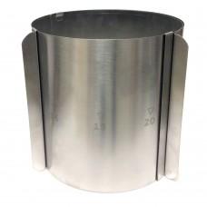 Форма раздвижная круглая h-20 см, d-16-30 см (Нерж. Сталь)