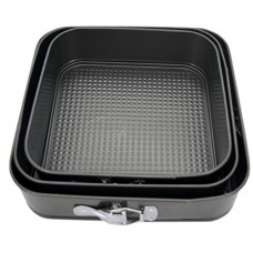 Набор форм для выпечки квадратных (с зажимами), 3 шт.