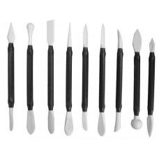 Набор ножей для работы с мастикой (9 шт, 18 насадок)