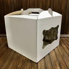 Коробка для торта / 300х300х250 / гофра / вікно