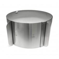 Форма раздвижная круглая h-10 см, d-16-30 см (Нерж. Сталь)