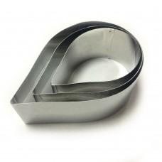 Набір металевих Капель форм для салатів, вирубки / дор. / 3 шт.