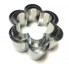 Набір металевих Ромашок форм для салатів, вирубки / дор. / 3 шт.