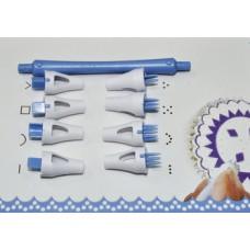 Набор инструментов для работи с мастикой (Создание Кружева), 8 насадок