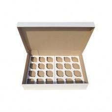 Коробка для 24 кексів / 470х330х90 / гофра / без вікна
