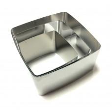 Набір металевих Квадратів форм для салатів, вирубки / дор. / 3 шт.