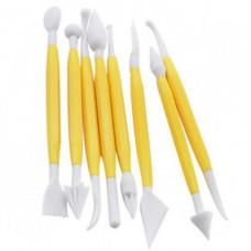 Набор ножей для работы с мастикой (8 шт, 16 насадок)