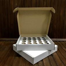 Коробка для 25 міні кексів / 260х255х450 / гофра / без вікна