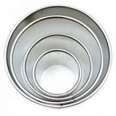 Набір металевих Круглих форм для салатів, вирубки / деш. / 4 шт.