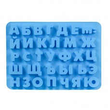 """Форма силіконова """"Алфавіт"""" / вел. / планшет / 33 шт."""