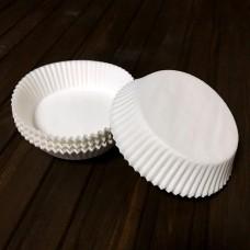 Форма паперова для тарта 10а / біла / d-10 см / h-2,5 см / 100 шт.
