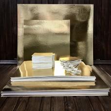 Підложка картонна золото/срібло 30х40 см