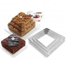 """Набір форм металевих для випікання торта """"Квадрати"""" / 3 шт."""