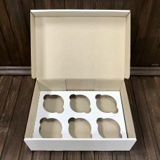 Коробка для 6 кексів / 250х170х80 / гофра / без вікна