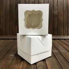 Коробка для 1 кекса / 100х100х90 / біла / вікно