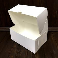 Коробка для торта, десертів / 180х120х80 / біла / без вікна