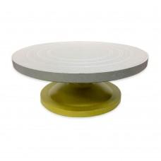 Підставка для роботи із тортом / металева / крутиться / d-32 см