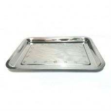 Піднос прямокутний металевий / 30 х 40 см