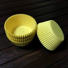 Форма паперова для кексу 7а / жовта / d-5 см / h-3 см / 100 шт.
