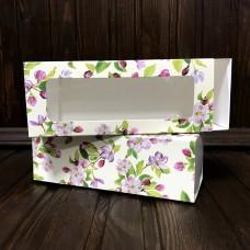 Коробка для 5 макаронс / 140х55х45 / Весна / вікно