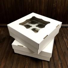 Коробка для 9 кексів / 260х260х90 / гофра / вікно