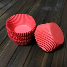 Форма паперова для кексу 7а / червона / d-5 см / h-3 см / 100 шт.