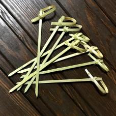 Шпажки бамбукові із вузликом / 9 см / 100 шт