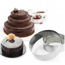 """Набір форм металевих для випікання торта """"Кільця"""" / 3 шт."""
