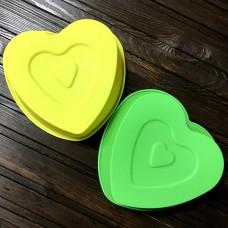"""Форма силіконова """"Серце на серці"""" / 13,5 см"""