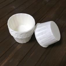 Форма для кексу із посиленим бортиком / біла / d-5 см / h-4 см / 20 шт