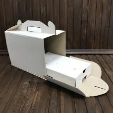 Коробка для 10 кейк-попсів / 240х145х175 / гофра / без вікна