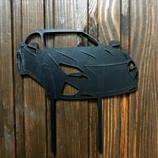 "Топпер ""Машинка"" / ДВП / чорний / 13х13 см / Lexus"