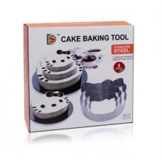 """Набір форм металевих для випікання торта """"Hello, Kitty"""" / 3 шт."""