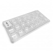 Форма полікарбонатна Кубики / планшет / 21 шт.