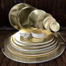Підложка картонна золото/срібло d-13 см