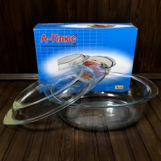 Каструля скляна із кришкою A-Plus 1081